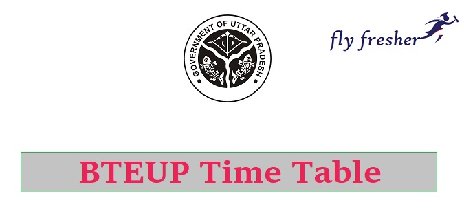 bteup-time-table, BTEUP