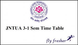 JNTUA-3-1-Time-Table