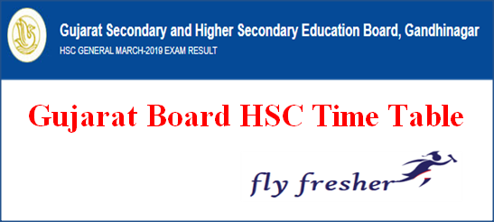 GSEB HSC Time Table, Gujarat Board 12th Exam Date Sheet, GSEB 12th Exam Routine, Gujarat Board HSC Time Table