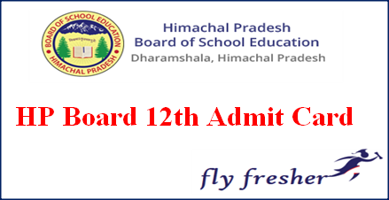 HP Board 12th Admit Card, HPBOSE 12th Admit card, HP Board class 12 hall ticket, HPBOSR 12th hall ticket, Himachal Pradesh board 12th admit card