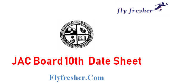 JAC 10th date sheet, Jharkhand Board Exam Date sheet, JAC 10th Time Table