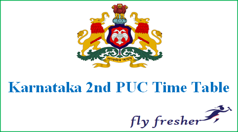 Karnataka 2nd PUC Time Table, KSEEB 12th Exam Date Sheet, Karnataka 12th time table, Karnataka 2nd PUC Exam date Sheet