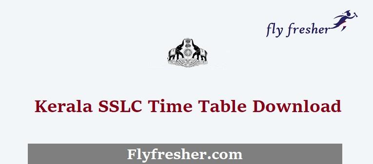 Kerala-SSLC-Time-Table