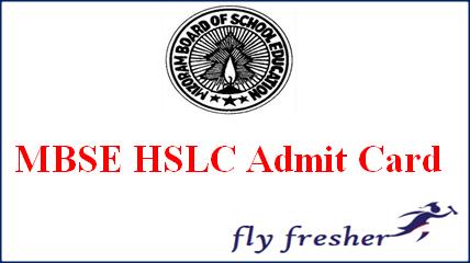 MBSE HSLC Admit Card