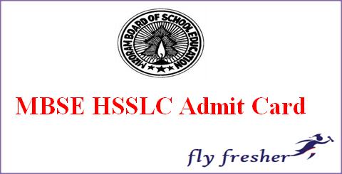 MBSE HSSLC Admit Card, Mizoram Board 12th Class Hall Ticket, MBSE 12th admit card, Mizoram HSSLC Admit card