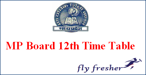 MP Board 12th Time Table, MPBSE 12th time table, MP Board exam date Sheet, MP Board HSC Time Table, Madhya Pradesh Board 12th Exam Routine