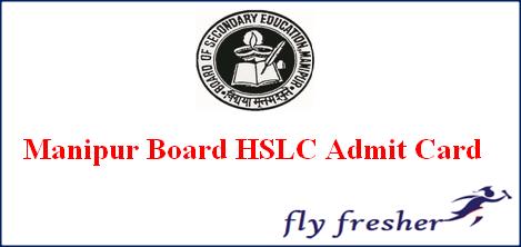 Manipur HSLC Admit Card
