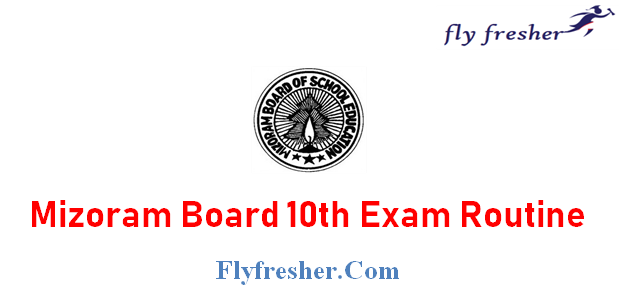 MBSE HSLC Routine, Mizoram Board 10th Class Time Table, MBSE 10th date sheet
