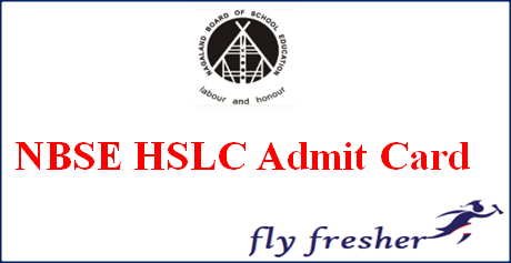 NBSE HSLC Admit Card