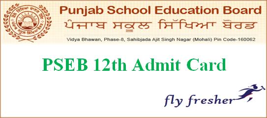 PSEB 12th Admit Card, Punjab Board 12th Hall Ticket, PSEB 12th hall ticket, Punjab board 12th roll number