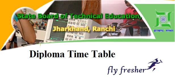 SBTE-Jharkhand-Diploma-Time-Table