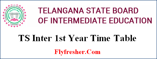 TS Inter 1st Year Time Table, TS Inter 1st Year Exam Date, Telangana state inter 1st year time table, TS Junior Inter Time Table