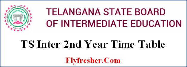 TS Inter 2nd Year Time Table, TS Senior Inter Year Time Table, Telangana 2nd year time table, TS Intermediate 2nd Year Time Table