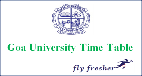 Goa University Time Table, Goa University Exam date sheet, Goa University exam routine, Goa University ba bsc bcom Time Table