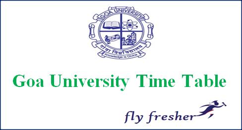 Goa University Time Table, Goa University Exam date sheet, Goa University exam routine, Goa University ba bsc bcom Time Table
