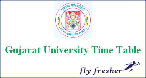 Gujarat-University-Time-Table