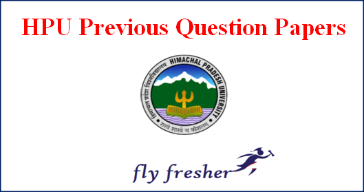 hpu-previous-question-papers