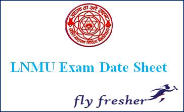 LNMU, LNMU exam date sheet, LNMU time table, LNMU exam schedule, LNMU exam routine