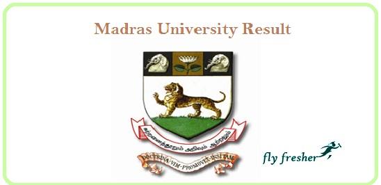 Madras-University-Result
