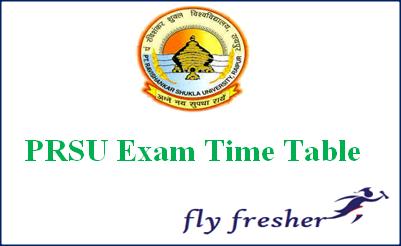 PRSU-Exam-Time-table