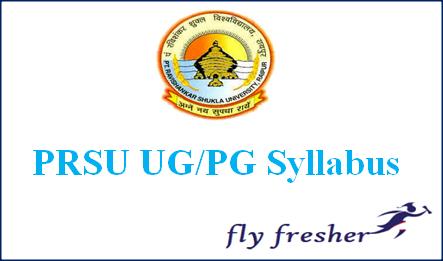 Pandit Ravi Shankar Shukla University syllabus, PRSU Syllabus, Pt, Ravi Shankar Shukla University syllabus, PRSU BA BSC BCOM Syllabus