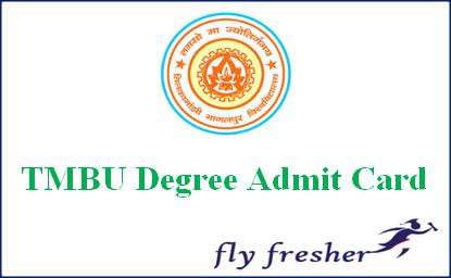 TMBU Admit Card, TMBU hall ticket, TMBU BA Admit Card, TMBU BSc Admit Card, TMBU Bcom Admit Card