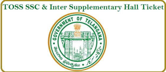 TOSS-SSC -Supplementary-Hall-Ticket,TOSS-Inter-Supplementary-Hall-Ticket