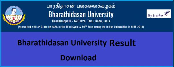 bharathidasan-university-result