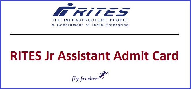 rites-junior-assistant-admit-card