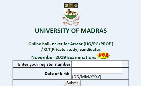 madras-university-hall-ticket-November-2019