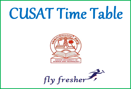 cusat-time-table