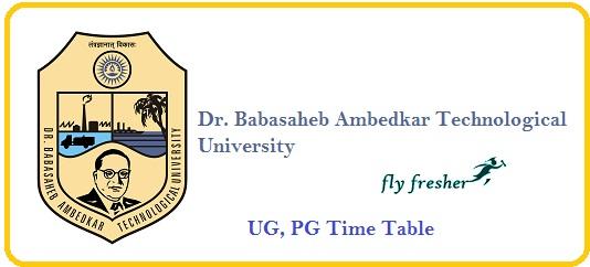 DBATU-Time-Table