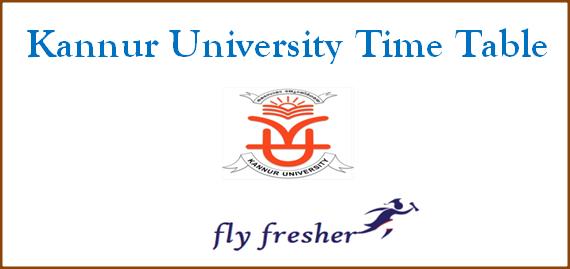 kannur-university-time-table
