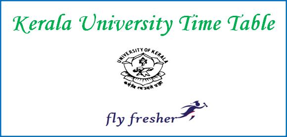 kerala-university-time-table