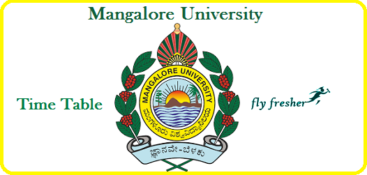 Mangalore-University-Time-Table