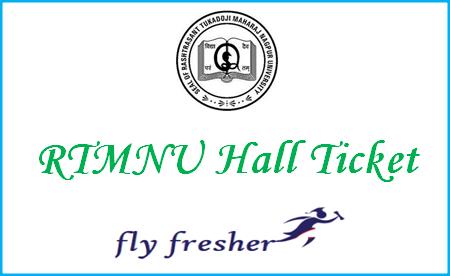 RTMNU-Hall-Ticket, RTMNU