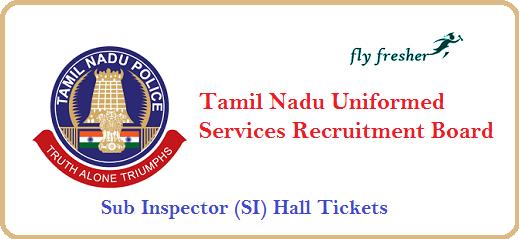 TNUSRB-SI-Hall-Tickets