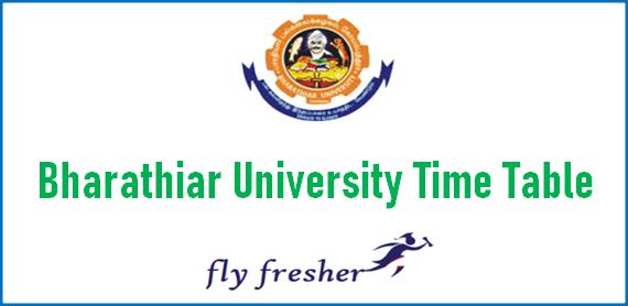 bharathiar-university-time-table