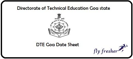 DTE Goa Date Sheet