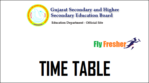 GSEB-SSC-Time-Table