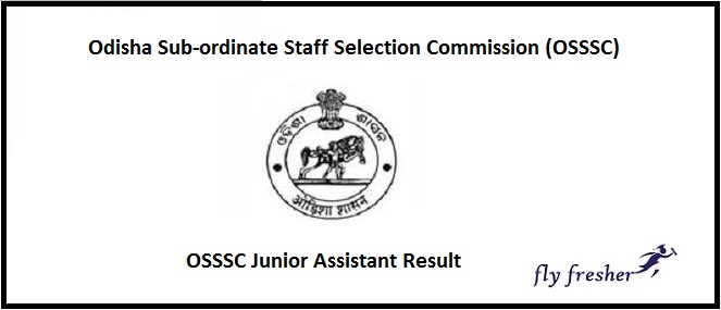 OSSSC Junior Assistant Result 2020