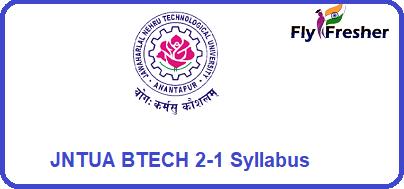 JNTUA-B.tech-2-1-Syllabus