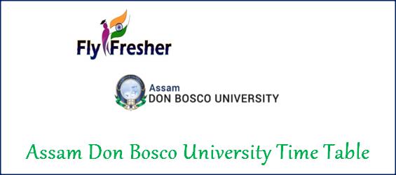 assam-don-bosco-university-time-table