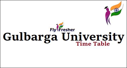 Gulbarga-University-Time-Table