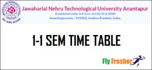 JNTUA-1-1-Time-Table, JNTUA-1-1-Time-Table-2021
