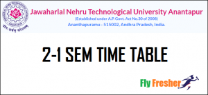 JNTUA-2-1-Time-Table, JNTUA-2-1-Time-Table-2021