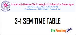 JNTUA-3-1-Time-Table, JNTUA-3-1-Time-Table-2021